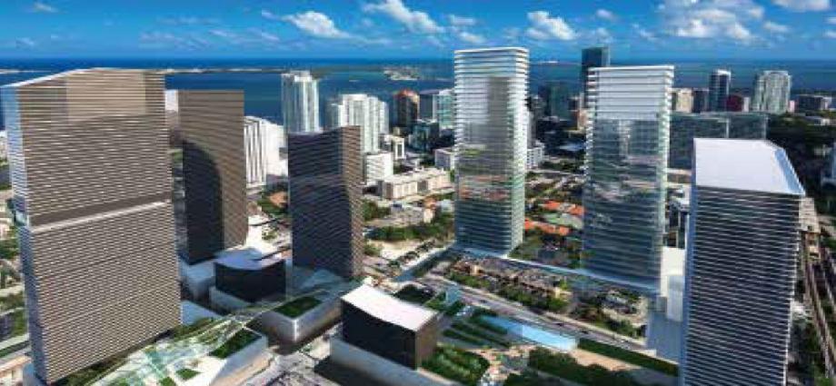 Квартиры в новостройке США по адресу 850 S Miami Ave, Miami, FL 33130